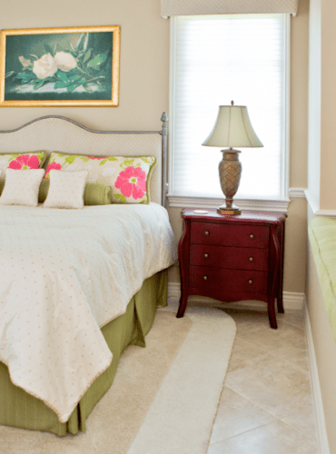 Custom Bedspread, Pillows, Bed Skirt, Upholstery and Cornices, All Fabrics by Anna French