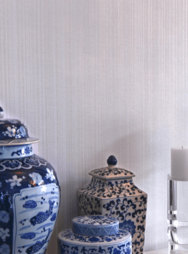 Faux Textured Wallpaper in White Color