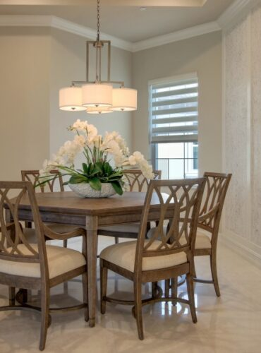 Natural Cork Wallcovering in White by Candice Olson for Dining Area