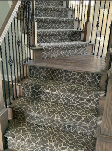 Patterned carpet runner from Stanton Carpet